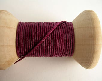 Burgundy 5 m of Red Chinese knotting cord 1 mm