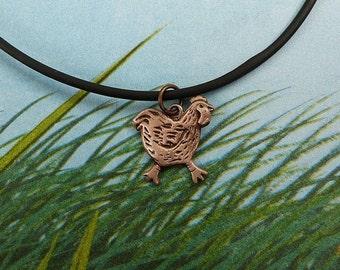 Bronze Chicken Necklace