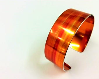 Amber 20mm Anodised Aluminium Cuff
