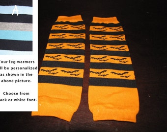 HALLOWEEN ORANGE baby leg warmers.  Great for babies, toddlers, and young kids