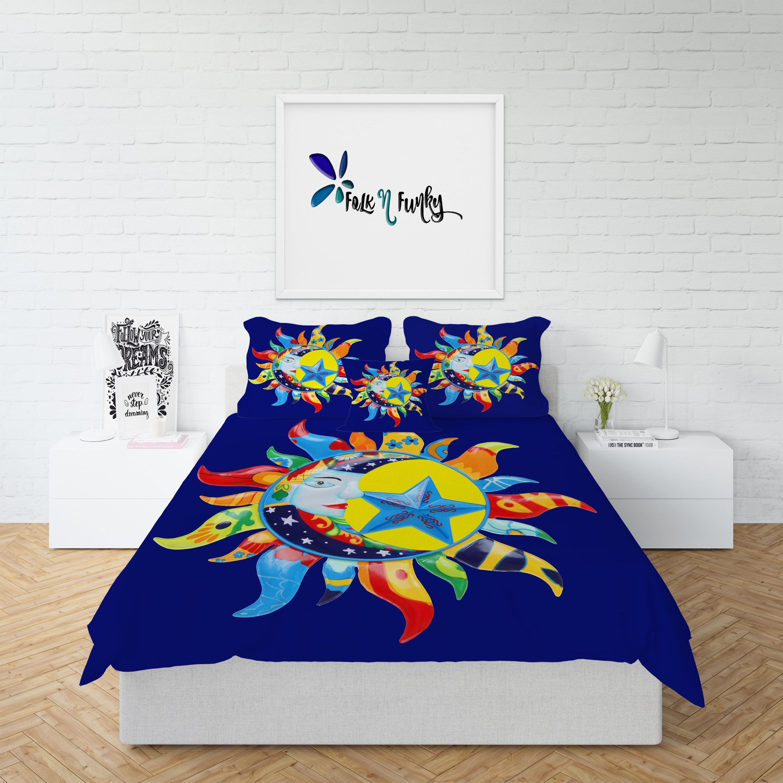 design bedding comforter pin stars celestial boho and bohemian cover duvet lightweight moon sun