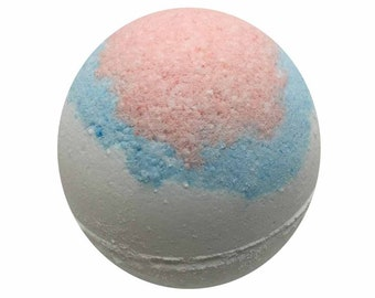 Baby Powder Bath Bomb, Bath Fizzy, Handmade Spa Product, Epsom Salts, Hydrating Coconut Oil, Sensitive Skin, Great Gift for Her