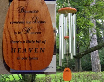"Personalized ""Because Someone You Love is in Heaven"" Amazing Grace Chime - Windchime - Custom Chime - Engraved Chime - Personalized Chime"