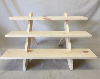 Custom Unfinished Knockdown Display Stand for Cupcakes, Donuts, Cake Pops, Craft Shows, Store Displays, Home Decor.