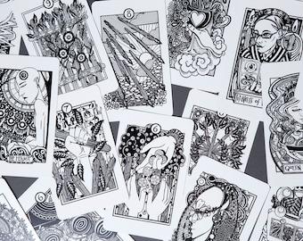 Six copies of the Heart & Hands Tarot Deck