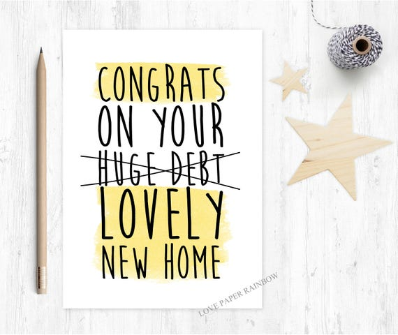 funny new home card, new home card, moving house card, 1st home card, first home card, funny first home card, funny 1st home card