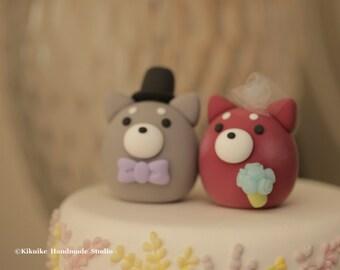 Shiba Inu wedding cake topper