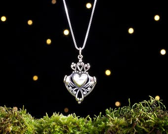 Sterling Silver Irish Claddagh - (Pendant Only or Necklace)