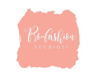 Pre made Logo, Coral Logo, Pre-Made Logo, Logo Kit, Logo Design, Etsy Logo, Shop Logo, Profile Logo, Contemporary Logo, Minimal Logo
