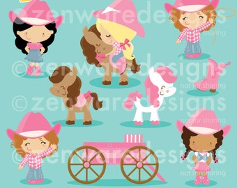 Pink Cowgirl Clipart