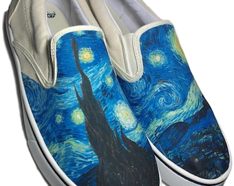 Custom Faded Glory Brand Starry Night Canvas Shoes