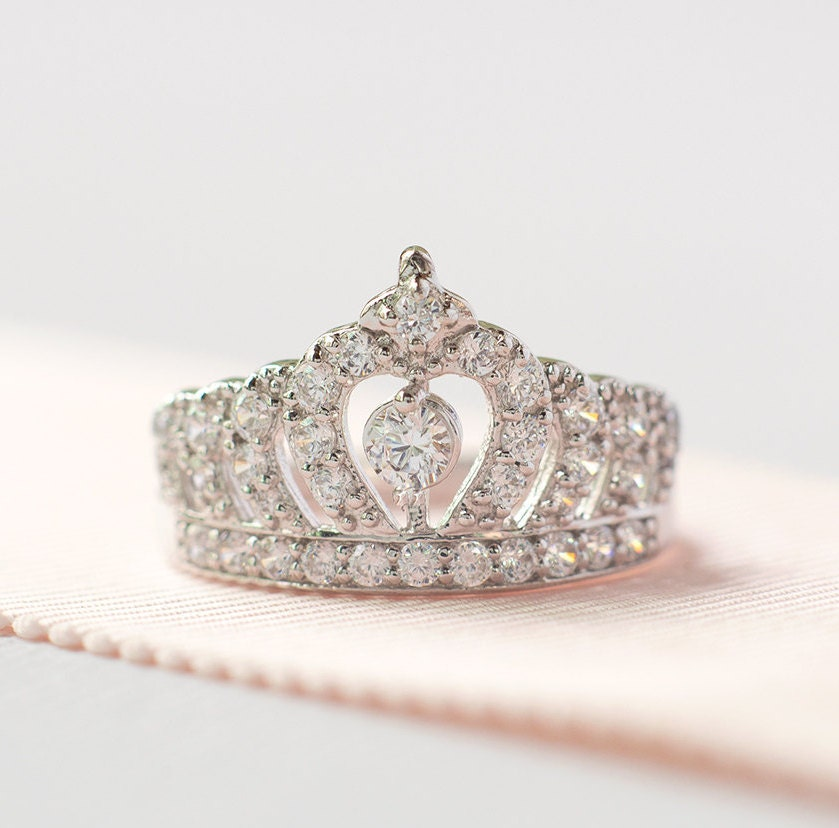 t vintage inspired promise engagement original aenfhtl ring stylish tiara rings wedding diamond
