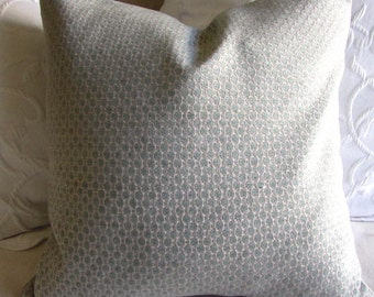 Chenille decorative Pillow Cover 18x18 20x20 22x22 24x24 26x26 patina blue