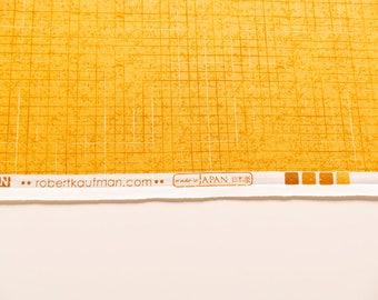 Buttercup yellow cotton fabric, light orange/yellow cotton fabric, Maze in buttercup