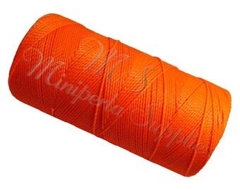 Spool of thread macramé waxed Linhasita - neon Orange