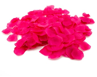 Fuchsia petals etsy loose hot pink fuchsia silk rose petals table scatter wedding reception romantic arts crafts bulk valentines day mightylinksfo
