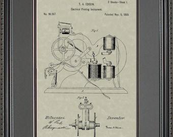 Ticker Tape Patent Art Stock Broker Trader Financial Gift E6567