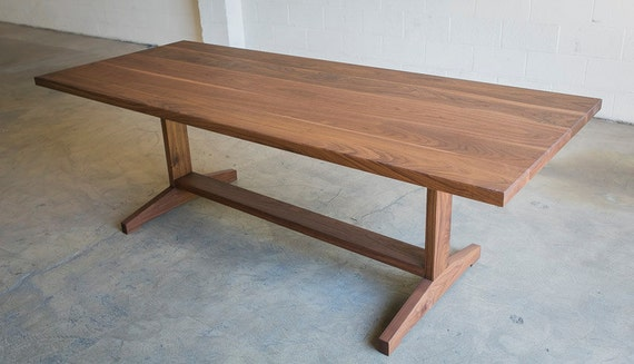 The Yates Walnut Trestle Dining Table