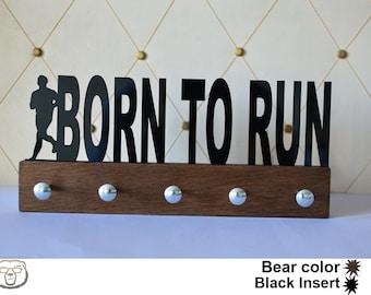 Born To Run Medal Holder, Personalized Name Medal Holder, Medal Display, Sport Gift, Custom Medal Holder, Gift for Him, Runner, Runner gift