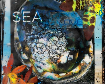 Best Seller, SEA LOVE, Giclee, 8x8 and Up, Print on Canvas, All Archival Materials, Ocean, Boats, Orchids, Abalone, ocean art