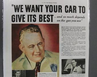Gas&Oil  #114  Ethyl Gasoline     Magazine Ad  Sept.   1938