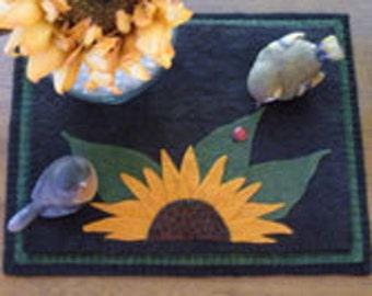 Sunflower Penny Rug E-Pattern