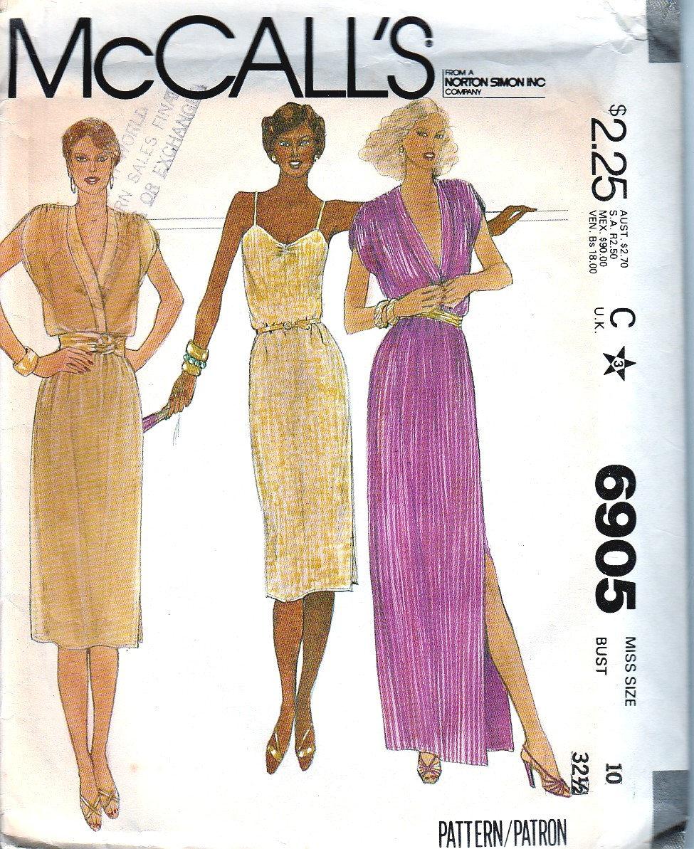 Vintage Schnittmuster 70er Jahre Kleid DIY klein Party