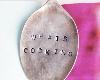 Vintage Silverware Book Mark / Page Clip / Cookbook Holder