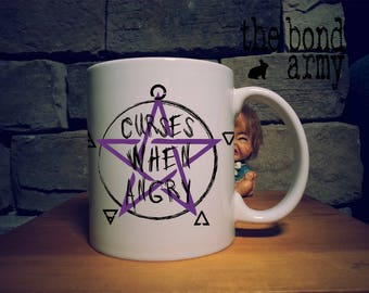 Witchcraft Witch Curses When Angry Mug Fun Wicca Pagan Spell Casting Mug Pentacle Elements Funny Witch Mug Wiccan Witch Mug Witch Gift Ideas