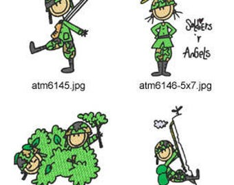 A-Kids-View-Army ( 7 Machine Embroidery Designs from ATW ) XYZ17D