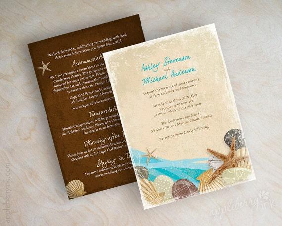 Destination Wedding Invitations Etsy: Items Similar To Destination Wedding Invitation