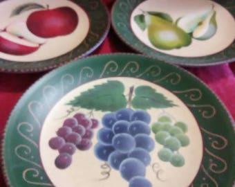 Vintage set of 3 home interior decorative plates