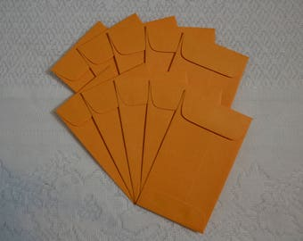"Coin Envelopes, Set of 10, 2.5 x 4.25"", manila, for crafts, journals, scrapbooking"