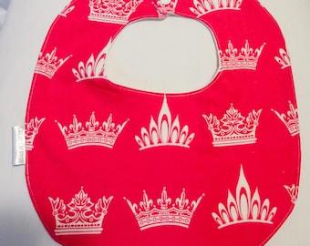 handmade crowns baby bib