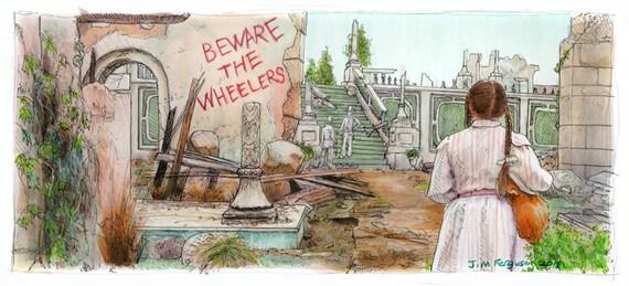 Return to Oz - Beware the Wheelers Print