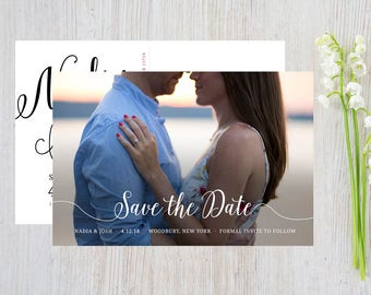 Save the Date Postcard, Printed Save the Date, Save the date with photo, custom save the date postcard