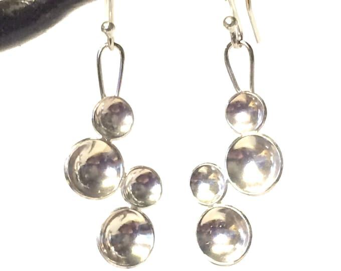 Bubble Design Drop Earrings
