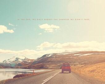 Travel Lover, Wanderlust, Travel Van, Road Trip, Travel Art Print, Gift for Traveler, Iceland Print, Iceland Art, Iceland Road Trip