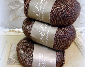 3+ skeins sublime lustrous extrafine merino dk yarn 292 inkling new unused FREE SHIPPING