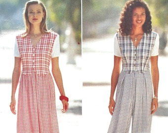 Butterick 3975 Misses' Dress & Jumpsuit - Vintage PATTERN - Sizes 12, 14, 16