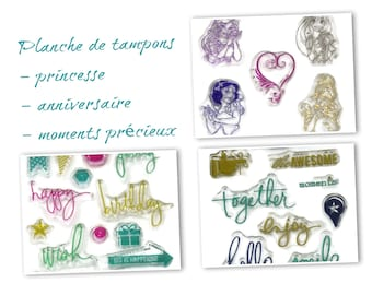 silicone - Princess pads Board / birthday / precious moments
