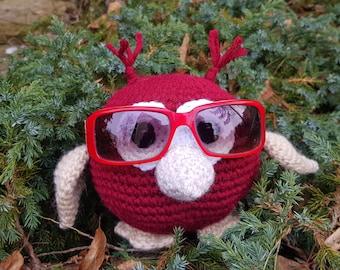 Funny Gifts, Owl crochet, Birthday gift, Eye Glasses Holder, Gift for Owls lover, Mother gift, Glasses holder, Nightstand Accessories