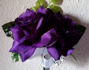 Purple Open Rose Corsage and/or Boutonniere