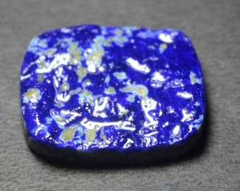 Lapis Lazuli Druzy  Natural Blue Lapis Lazuli Top quality Blue Lapis Lazuli loose stone gemstone cabochon 68 ct {32 X 27}mm S# 711