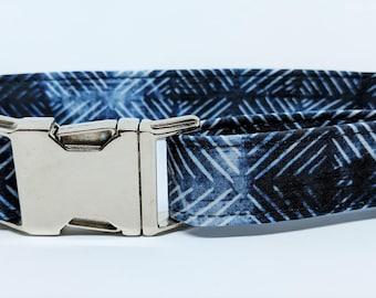 Indigo Shibori Dog Collar - Spring 2018 Collection