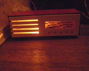 Old Time Wood Radio, Electric, Vintage Miniature Dollhouse Style, Made in West Germany