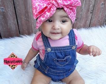 Pink Blush headwrap, headwrap, fabric head wrap, baby headwrap, toddler headwrap, newborn headwrap, baby headband, floral head wrap