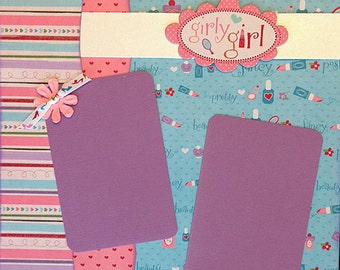 Scrapbooking Kit Girl 12x12 2 page layout premade