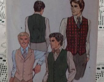 Men's Vest Pattern, Vntg. Vogue For Men, Size 38, Uncut and Unused