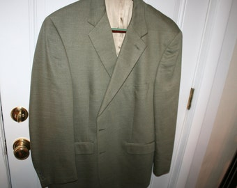 Men's 346 Brooks Brothers Silk/wool blend light green sports coat jacket size 44 r